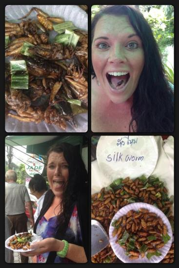 Grasshoppers and Worms. Yes, I did.